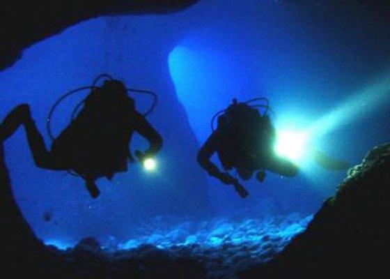 Hawaii night scuba diving