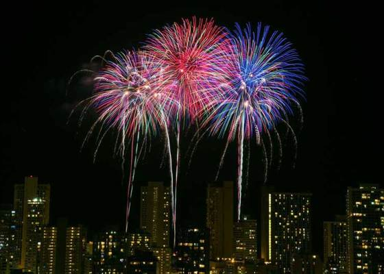 Fireworks cruise Honolulu