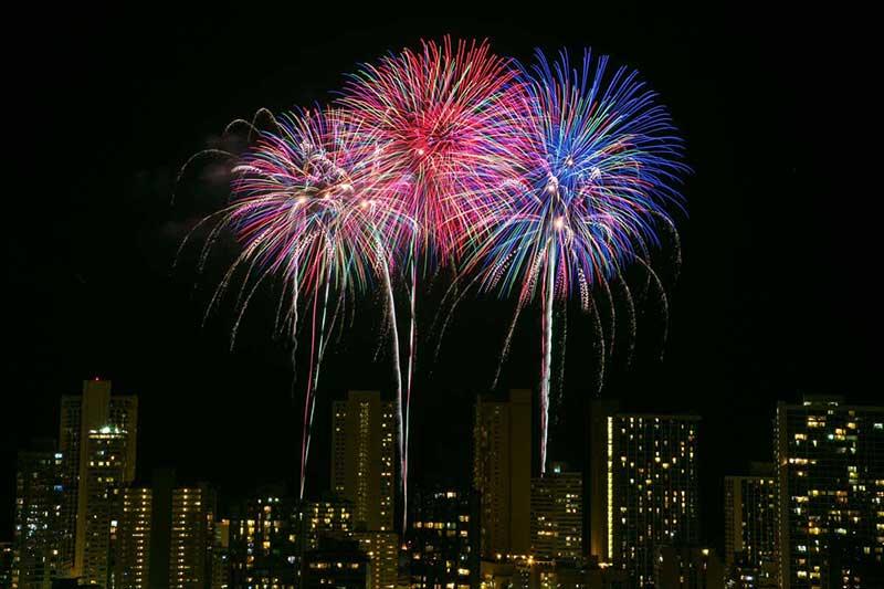 Fireworks cruise Honolulu